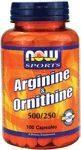 ARGININE ORNITHINE 500/250